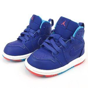 Blue & Red Retro Baby Air Jordan's, size 5C